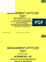 Management Aptitude Test 24 November