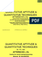 Quantitative Aptitude & Quantitative Techniques 24 November