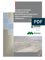 Peligros Geotecnicos Por Movimientos en Masa - Zona La Quebrada de Cieneguilla FINAL