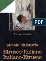 Estratto Da -Torquato Mussini - Piccolo Dizionario Italiano-Etrusco-Italiano