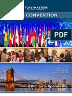 2013 Sponsorship Brochure-Final Toastmasters International Convention Sponsorship Opportunities