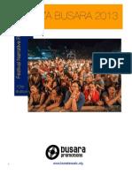 Sauti za Busara 2013 Narrative Report