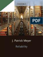 Patrick Meyer Reliability Understanding Statistics 2010