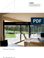 Confort 125 - aluminium sliding doors - Sapa Building System