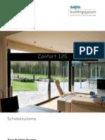 Confort 125 Aluminium hebe- und hebeschiebetüren - Sapa Building System