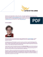 Letter of the Lords - June 7, 2013