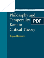 Hammer, Philosophy and Temporality, Kant to Adorno