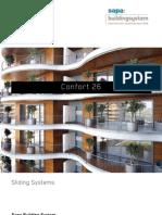 Confort 26 aluminium sliding door - Sapa Building System