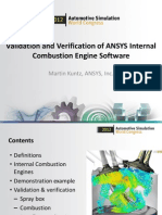 Validation Verification Internal Combustion Ansys