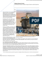 Design Considerations for a Tailings Disposal System