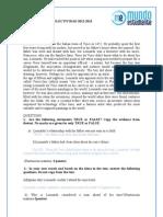 Solución Examen Inglés Opción B Selectividad Madrid Junio  2013