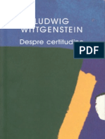 Ludwig Wittgenstein-Despre Certitudine-Humanitas (2005)