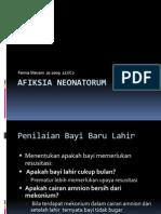 Afiksia neonatorum