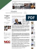 Folha Política_ _Os partidos não representam a população, querem apenas poder_, afirma Joaquim Barbosa
