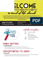 Church Bulletin for June 7 & 9, 2013