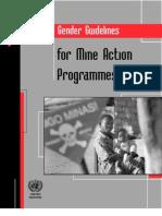 Gender Guidelines for Mine Action Programmes - July 2011