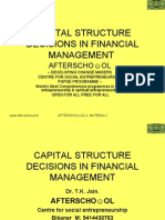 CAPITAL STRUCTURE DECISIONS IN FINANCIAL MANAGEMENT  5 NOVEMBER
