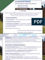 Power Point, 1. Ejecución Forzosa (concepto, títulos y partes)