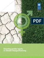 Ensuring gender equity in climate change financing - January 2010