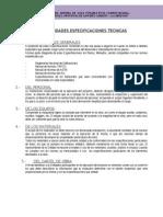Especificaciones Agua Potable Los Andes
