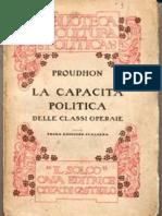 Proudhon Pierre Joseph - La capacità politica delle classi operaie-1865