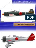 WW II Japanese Aircraft Prints (CLW Graphics)