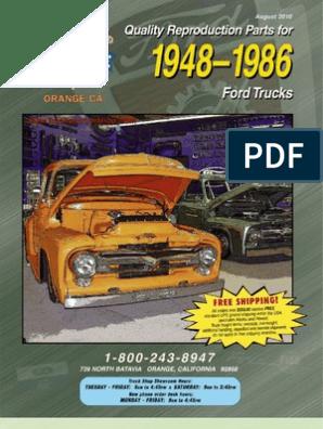 65-72 Ford F100 Regular Cab 2WD Manual w// Frame Mounted Tank Carpet 13 Maroon