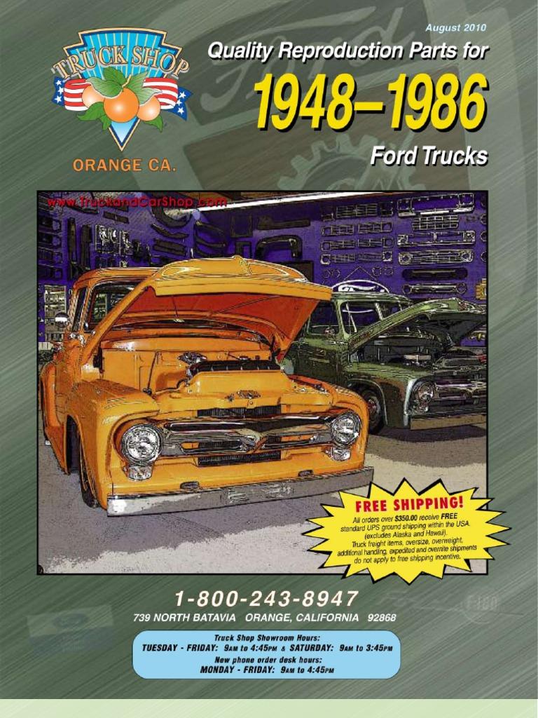 48 86 Ford Truck 09 Invoice Door 1955 F100 Moon Caps