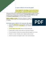 Buenas prácticas para reducir el uso de papel