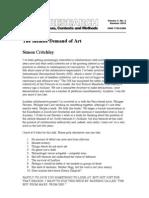Simon Critchley the Infinity Demand of Art