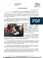 02/02/12 Germán Tenorio Vasconcelos refuerza Sso Acciones Ante Casos de Influenza en El Estado