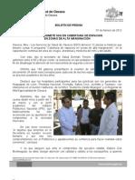 07/02/12 Germán Tenorio Vasconcelos SE COMPROMETE SSO EN COBERTURA DE ESPACIOS EN ZONAS DE ALTA MARGINACIÓN