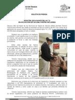 11/02/12 Germán Tenorio Vasconcelos REGISTRA SSO AVANCE DEL 64.7 % EN APLICACIÓN DE VACUNA CONTRA INFLUENZA