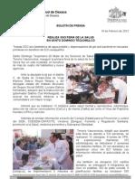19/02/12 Germán Tenorio Vasconcelos Realiza SSO Feria de La Salud en Santo Domingo Teojomulco