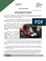 22/02/12 Germán Tenorio Vasconcelos primera Semana Nacional de Salud, Del 25 de Febrero Al 2 de Marzo