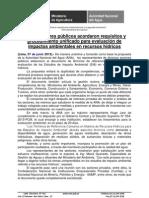 NP Nº 217 ANA lideró reunión con sectores para validación de TDRs sobre evaluación de EIA en recursos hídricos.doc1.doc1