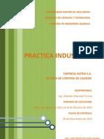 Informe - Practica Industrial -Seccion de Control de Calidad