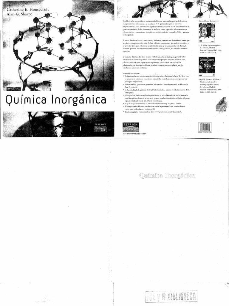 quimica inorganica catherine housecroft pdf descargar gratis