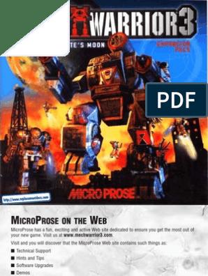 MechWarrior 3 - Pirates Moon - Manual - PC | Implied