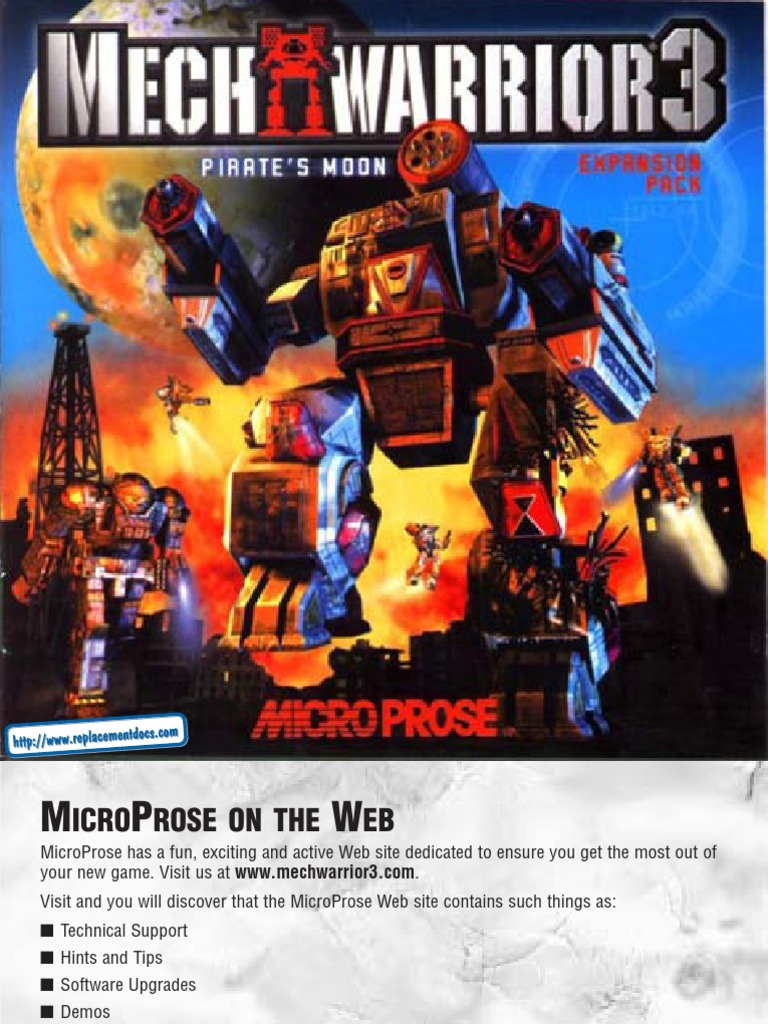 MechWarrior 3 - Pirates Moon - Manual - PC | Implied