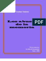 Todorov - Los Abusos de La Memoria