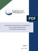 DEA Estandares de Calidad Para La Acreditacion de Las Carreras Profesionales Universitarias de Ingenieria