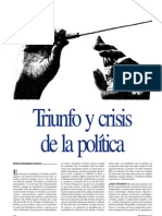 Revista Disenso, 15 (1996), Triunfo y crisis de la política
