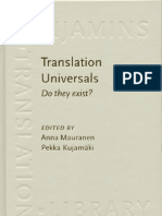 Translation Universals Do They Exist
