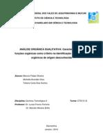 caracterização e funções organicas
