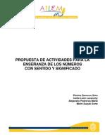 13.- Propuesta de actividades para la enseñanza de los números con sentido y significado