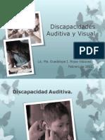 Discapacidades Auditiva y Visual