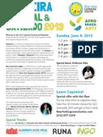 New York Capoeira Center Festival Flyer 2013