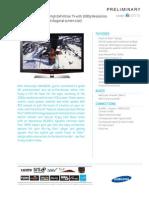 Samsung LN46b630 Spec Sheet (Preliminary)
