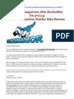 ¡Gratis! Información Sobre Las 3 Franquicias Más Rentables En 2013 y Una Sorpresa